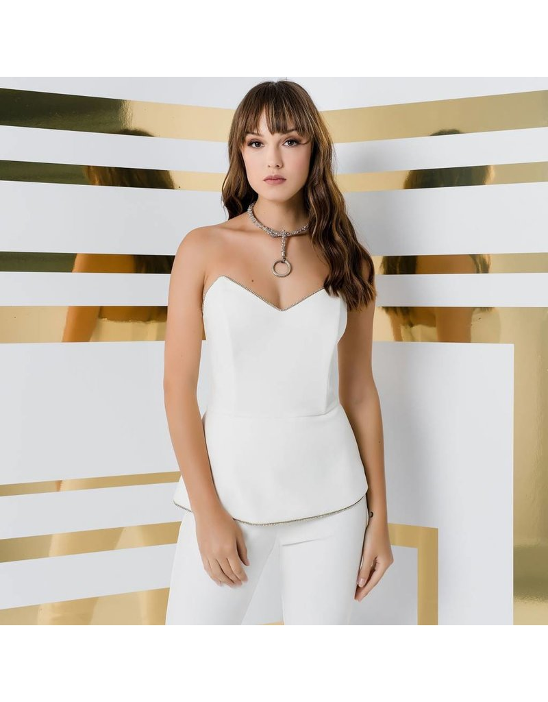 Access Abee Fashion Strapless jumpsuit with strass