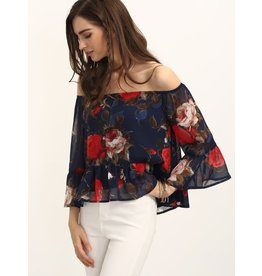 Love Shop Pray Flower printed top