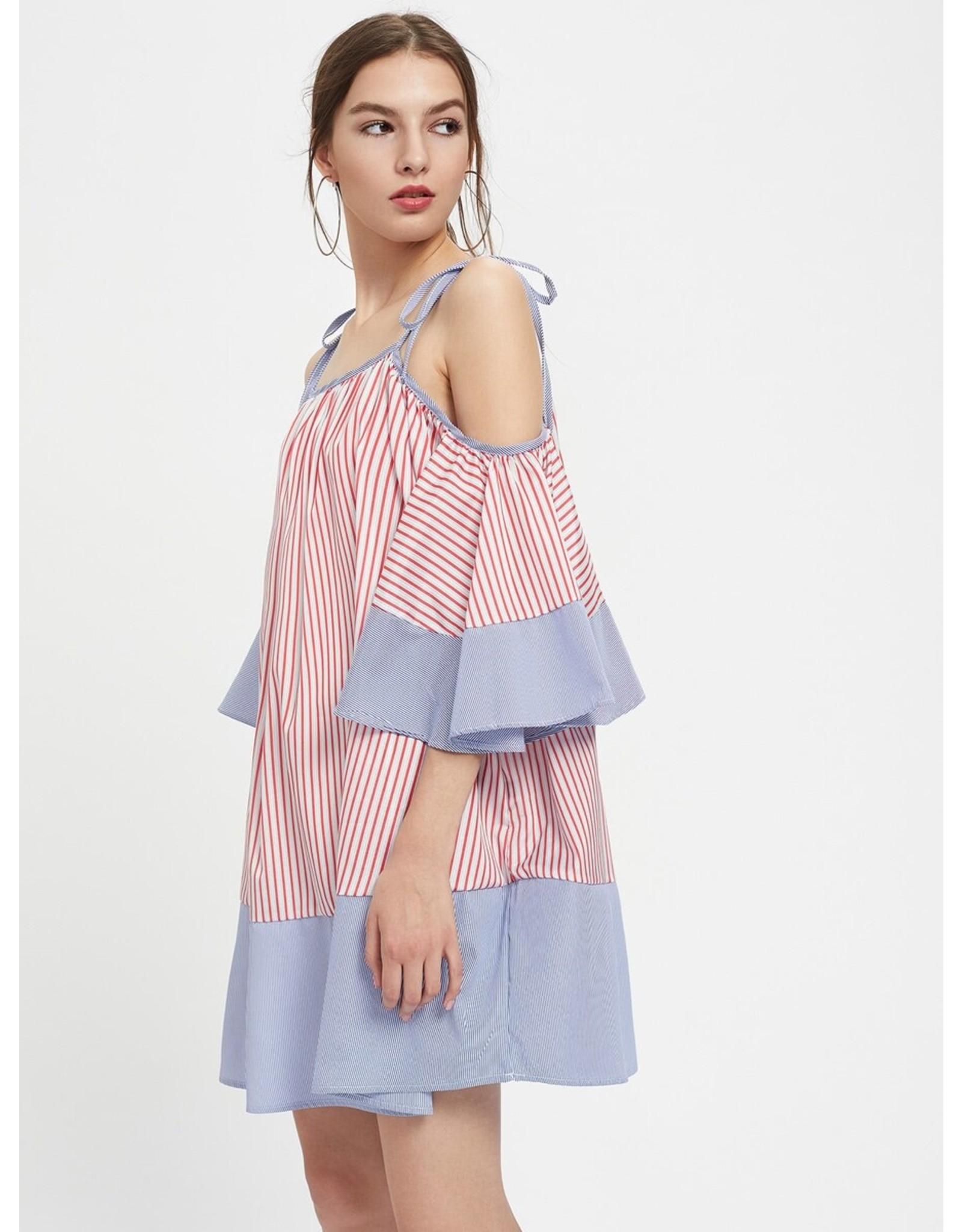 Love Shop Pray Striped shorts dress