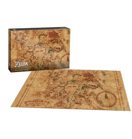 USAOPOLY Legend of Zelda Breath of the Wild Puzzle Hyrule Map