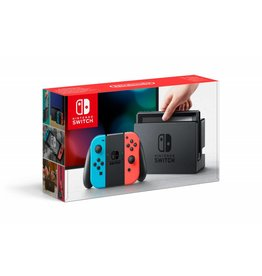 NINTENDO Console Nintendo Switch avec une Joy-Con rouge neon et une Joy-Con bleu neon