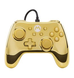 POWER A Manette Filaire Iconic Mario Gold