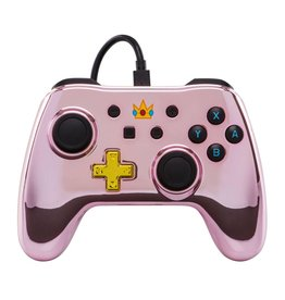 POWER A Manette Filaire Iconic Chrome Peach