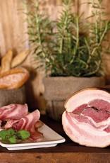Carni dock Pancetta cuite, marinée au Barolo et fumée