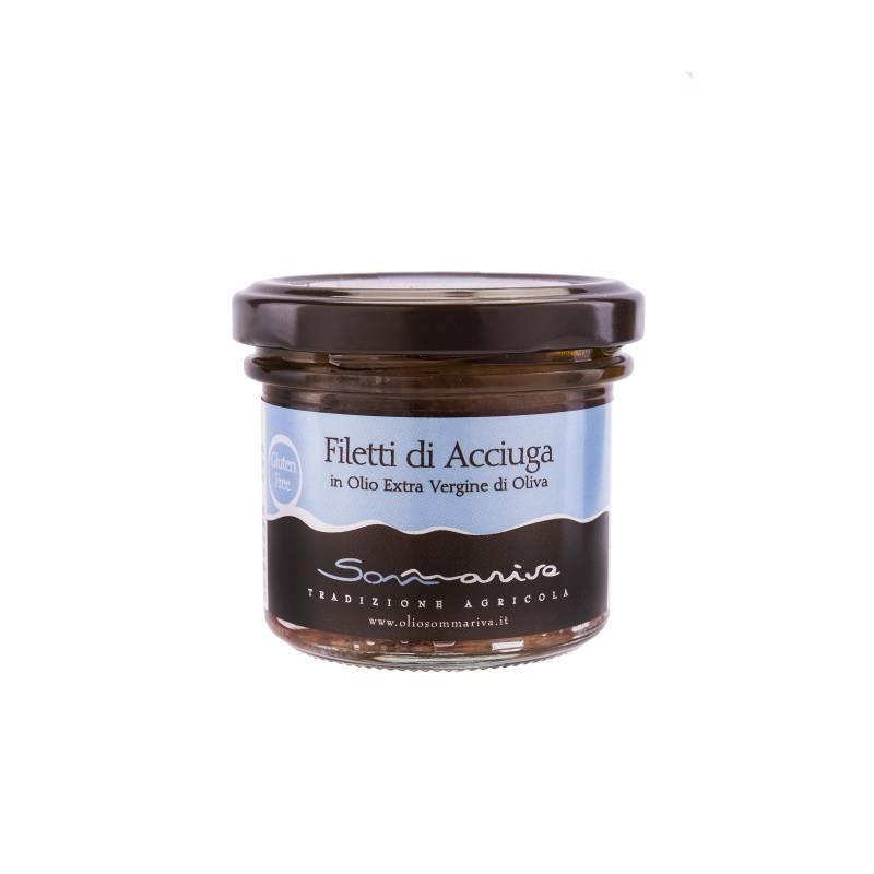 Sommariva Filets anchois Bio dans huile extra vierge - 110gr