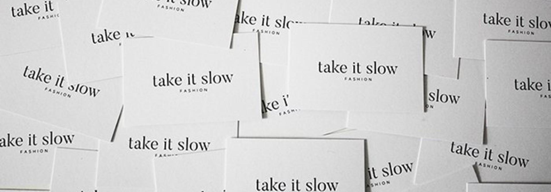 Hoe de visitekaartjes van Take it slow zo min mogelijk impact hebben op het milieu