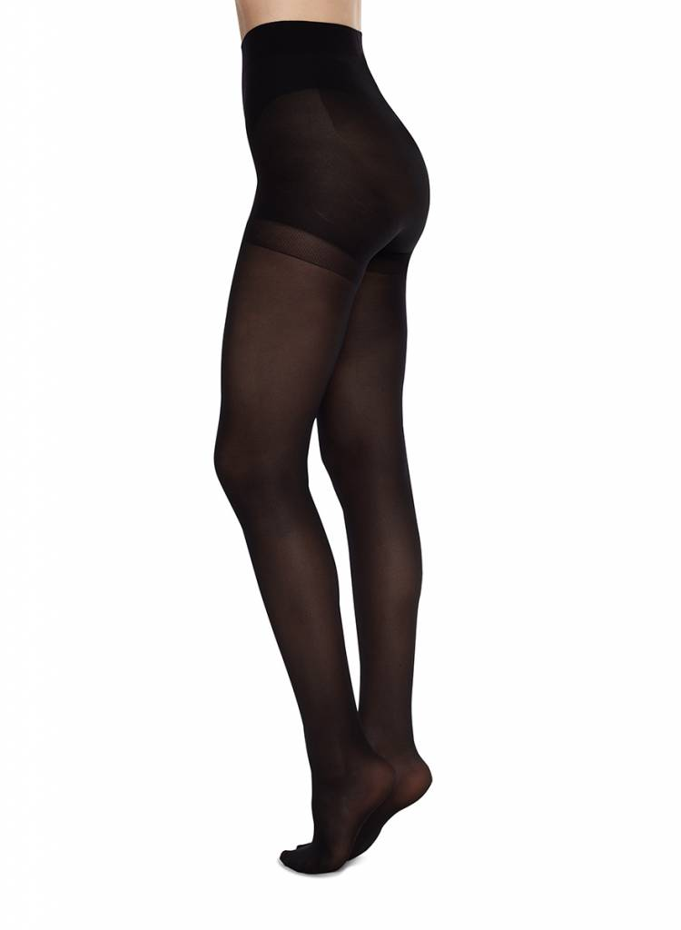 Swedish Stockings | Anna control top panty 40 denier zwart-2