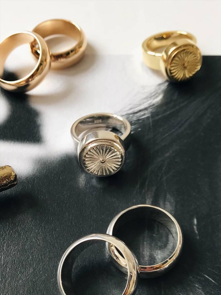 Wildthings | Wildflower ring silver-2