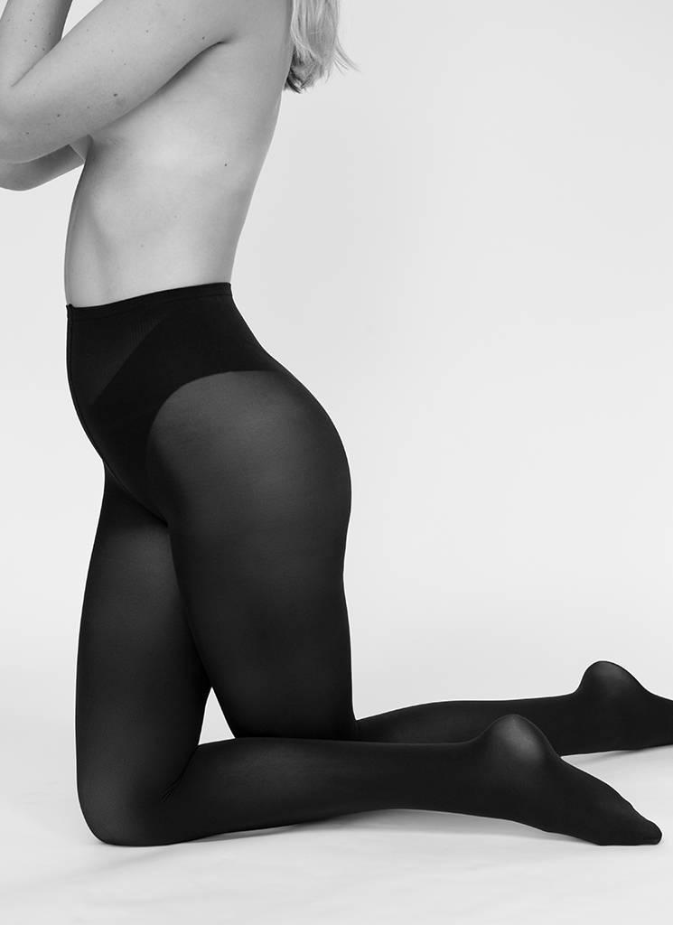 Swedish Stockings | Olivia panty 60 denier nearly black-1