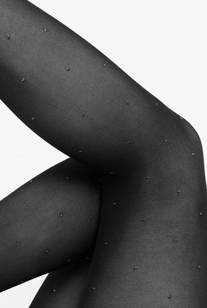 Filippa Dots tights 50 denier silver