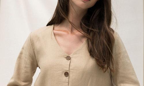 Kleding van linnen stof