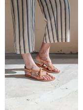 Nulla Nomen Sandal Toe Cross Strap Small Naturel Plantaardig Gelooid Leer