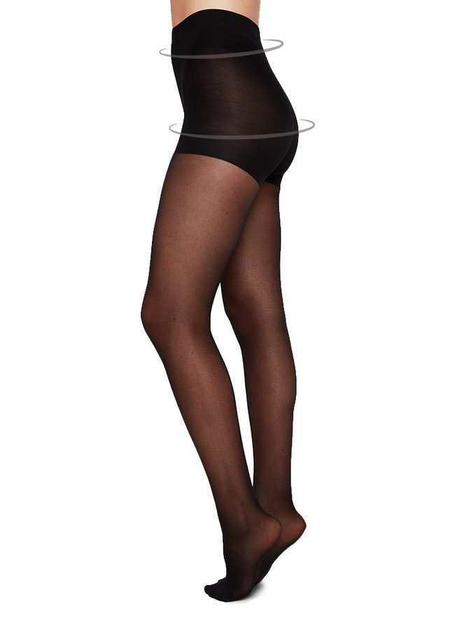 Swedish Stockings | Moa ontrol top tights 20 denier black
