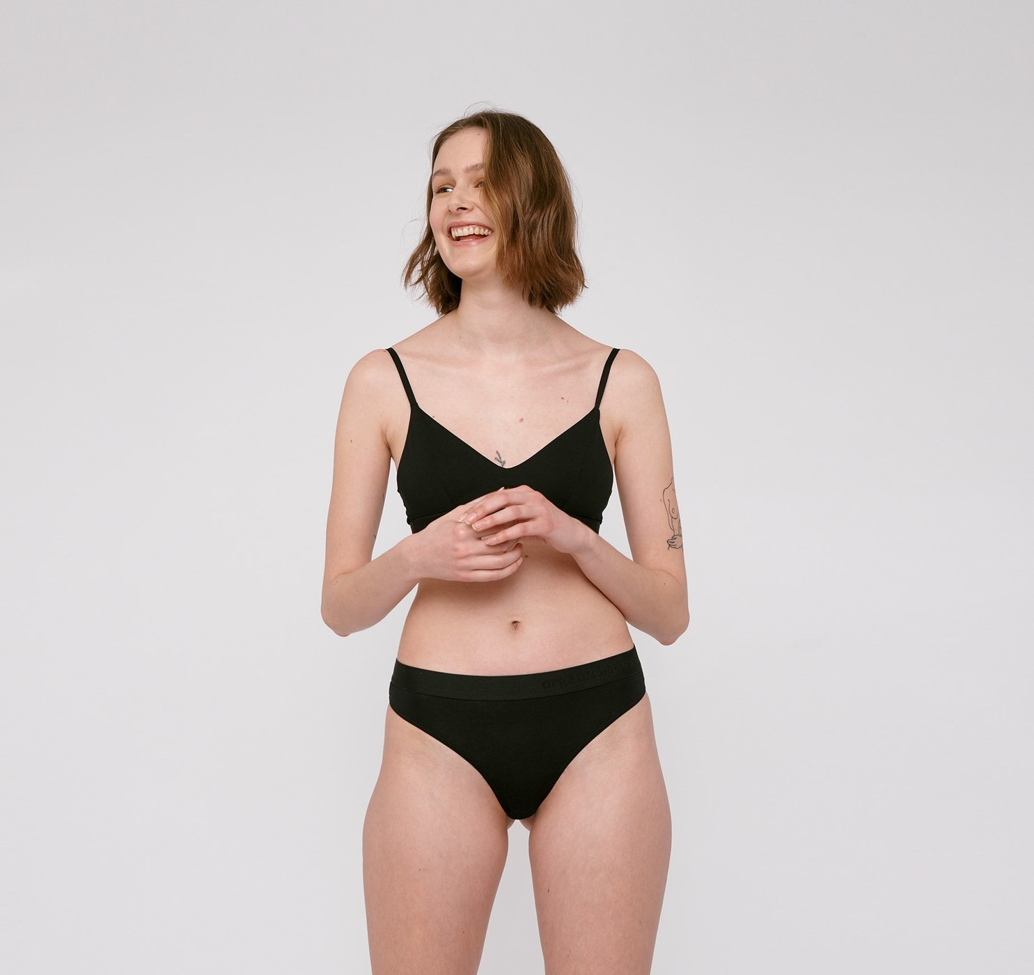 Organic Basics | Soft Touch Tanga 2-pack Zwart Tencel ™-2