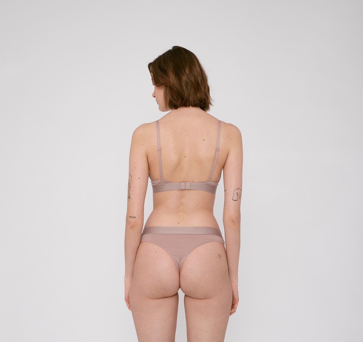 Organic Basics | Soft Touch Tanga 2-pack Dusty Rose Tencel ™-3
