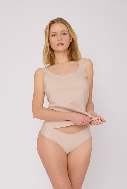 Organic Basics Invisible Cheeky Thong 2-pack Rose Nude