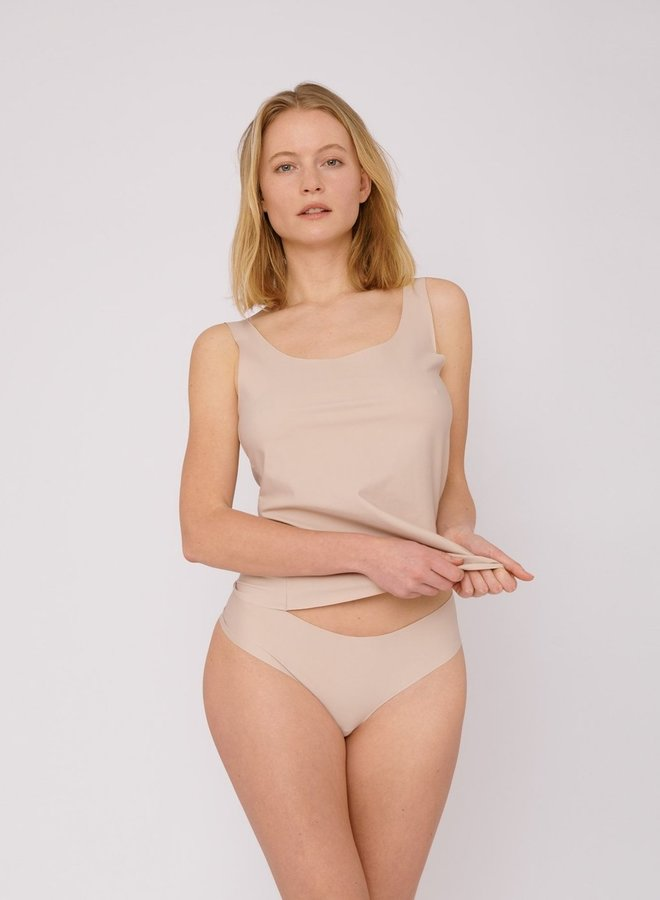 Organic Basics | Invisible Cheeky Thong 2-pack Rose Nude