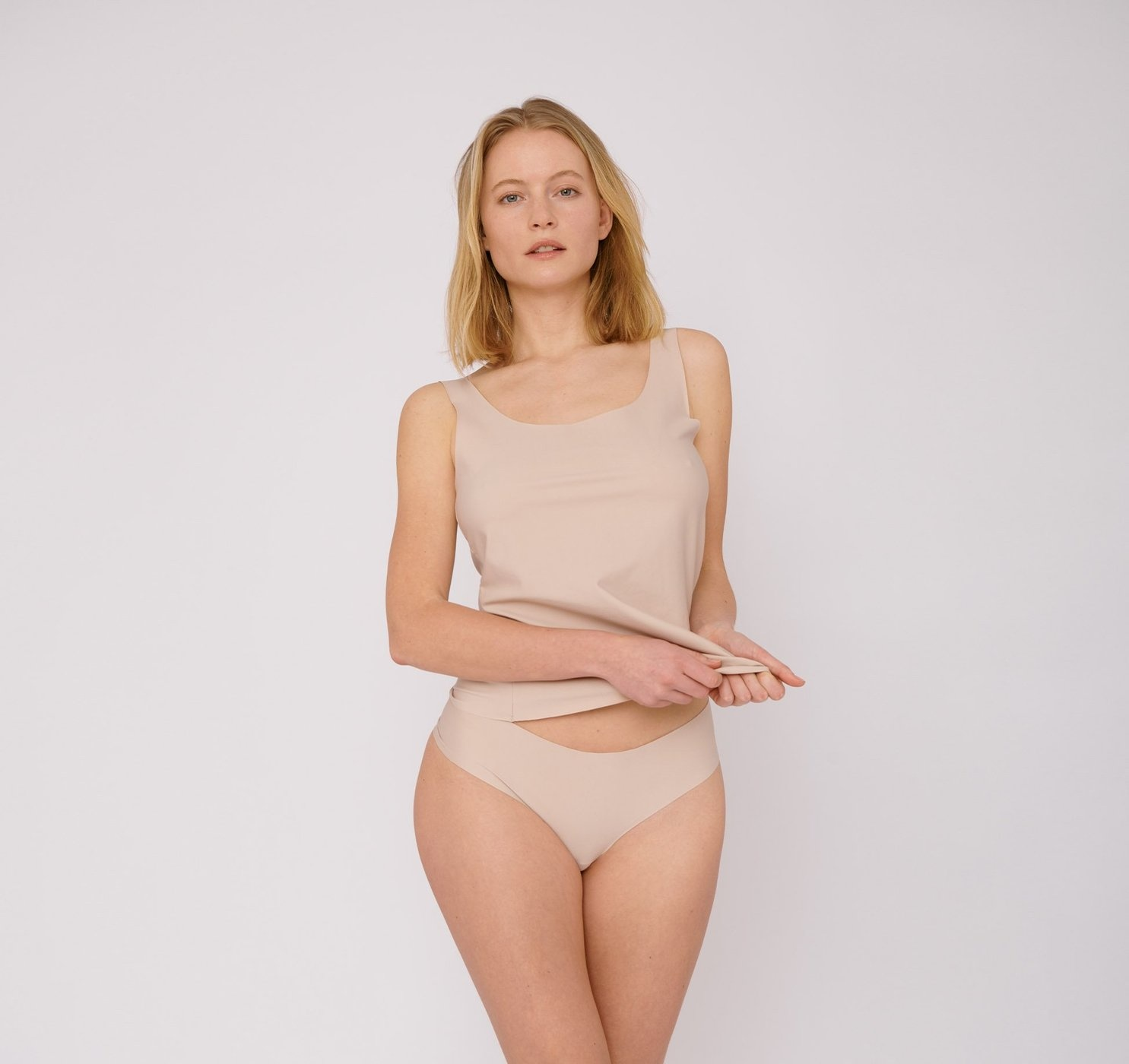 Organic Basics | Invisible Cheeky Thong 2-pack Rose Nude-1