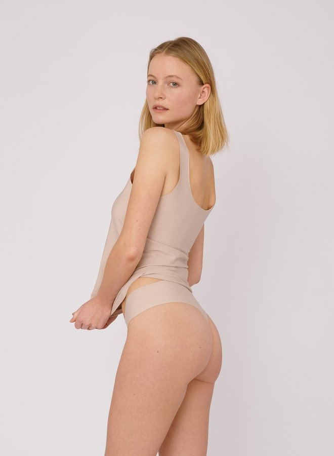Invisible Cheeky Thong 2-pack Rose Nude
