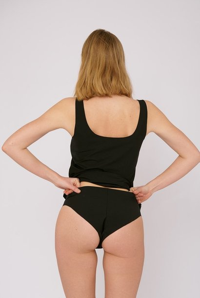 Organic Basics Invisible Cheeky Brief 2-pack Black