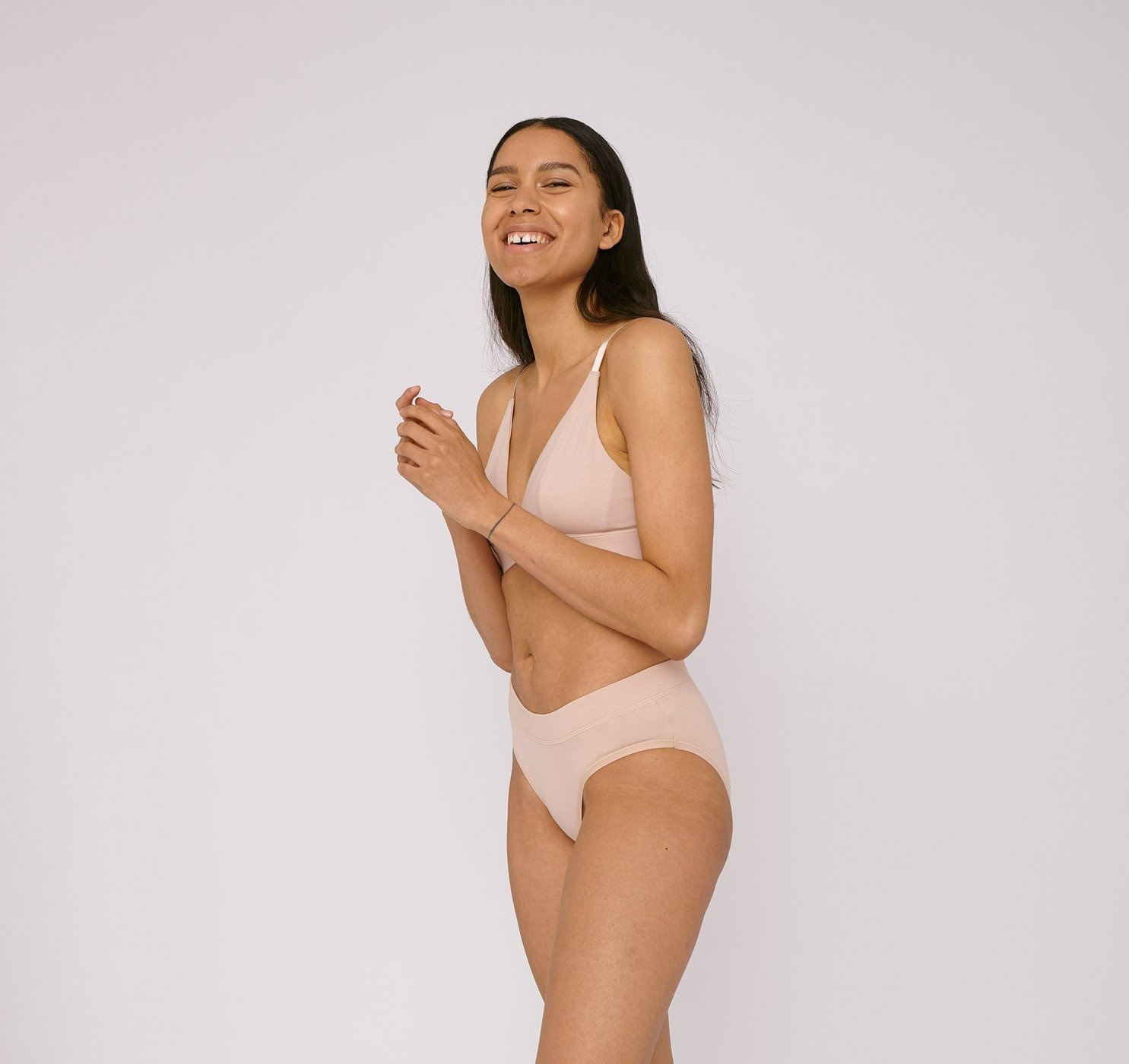 Organic Basics | Briefs 2-pack Rose Nude Organic Cotton-3