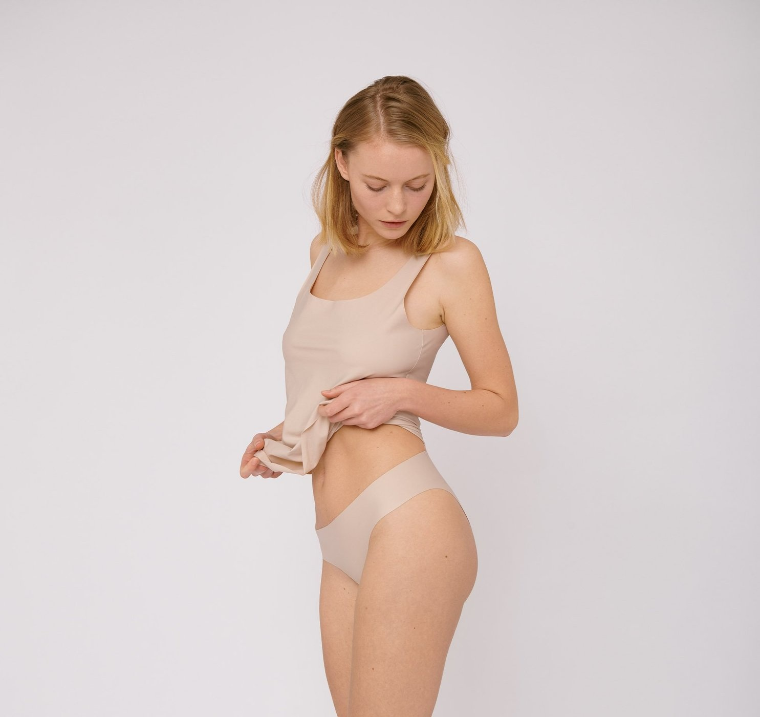 Organic Basics   Invisible Cheeky Briefs 2-pack Rose Nude-2