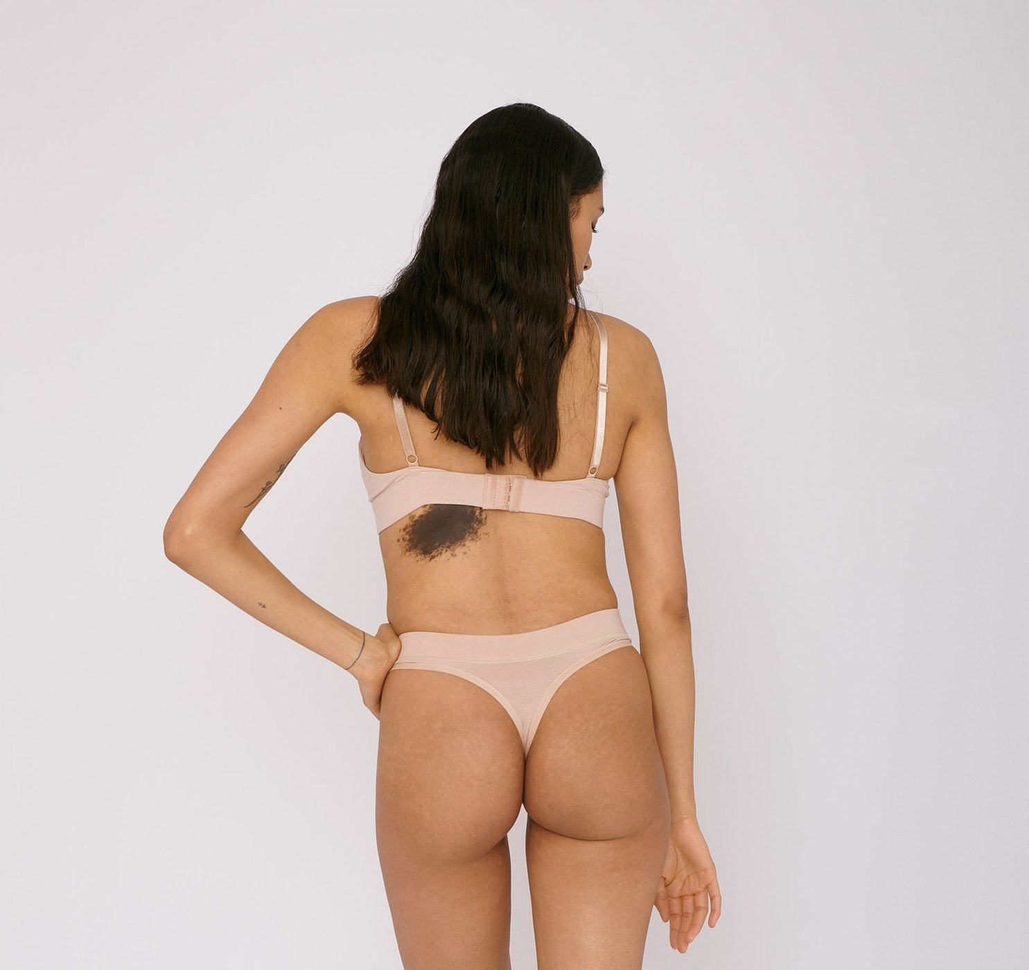 Organic Basics | Thong 2-pack Rose Nude Organic Cotton-2