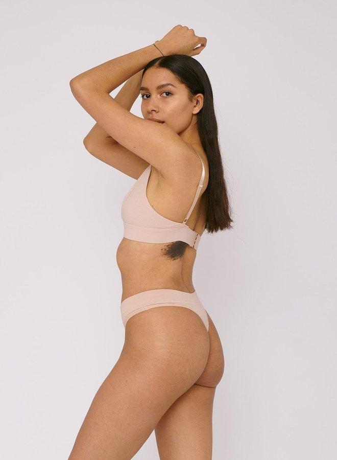 Thong 2-pack Rose Nude Bio Katoen