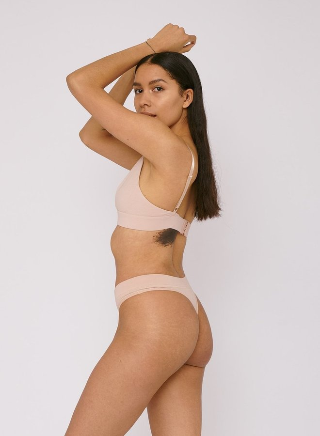 Thong 2-pack Rose Nude Organic Cotton