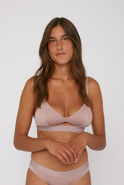 Organic Basics Soft Touch Bralette Dusty Rose Tencel ™