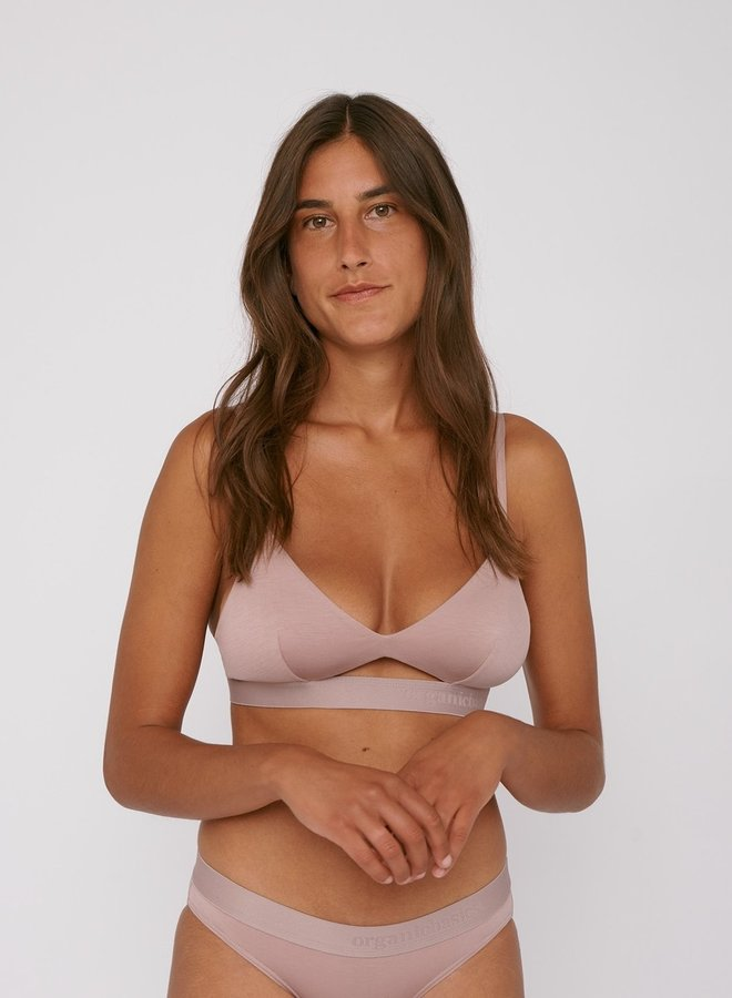 Organic Basics | Soft Touch Bralette Dusty Rose Tencel ™