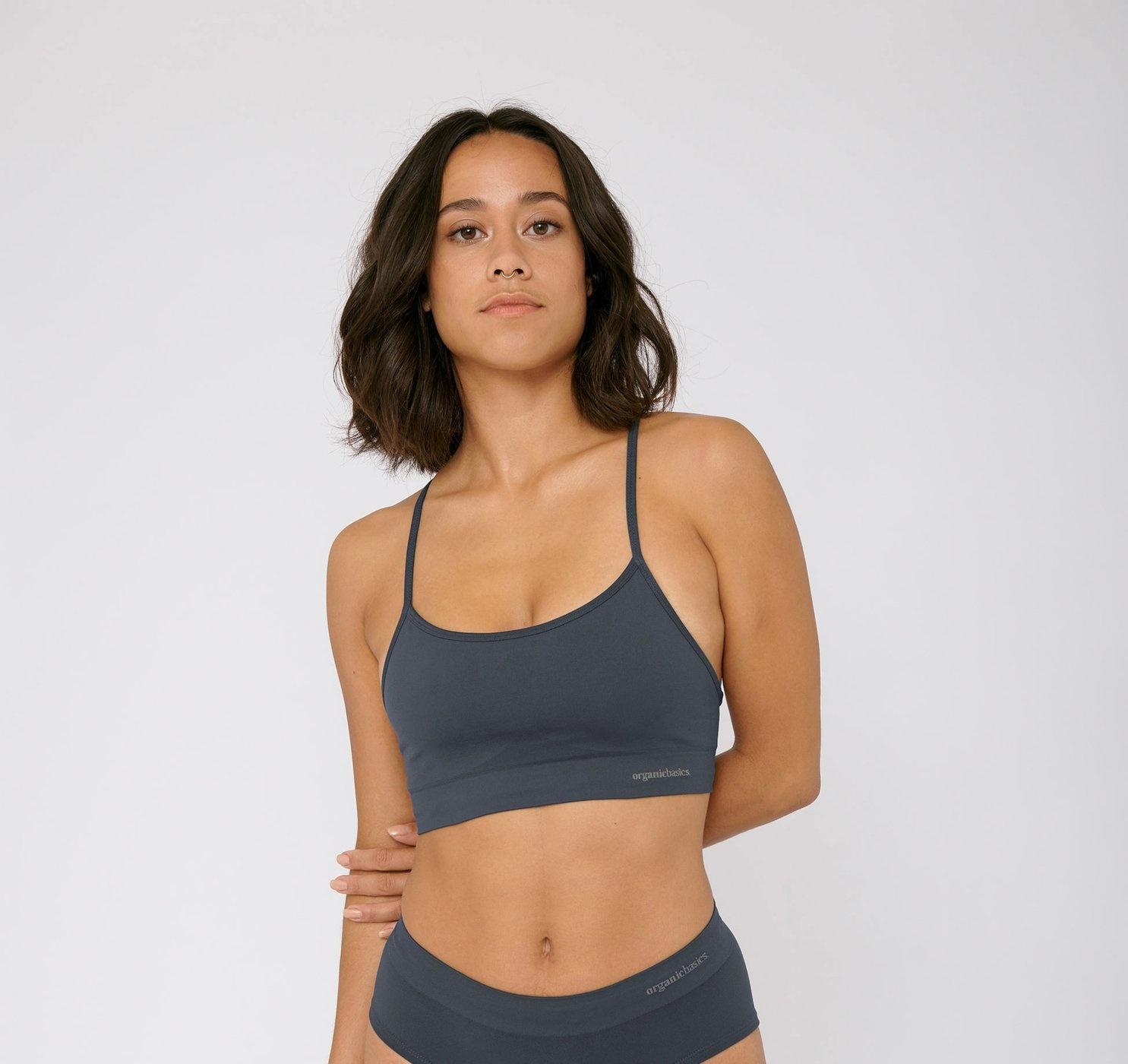 Organic Basics | SilverTech Sports BH blauw-1