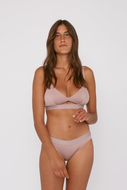 Organic Basics Soft Touch Tanga 2-pack Dusty Rose Tencel ™