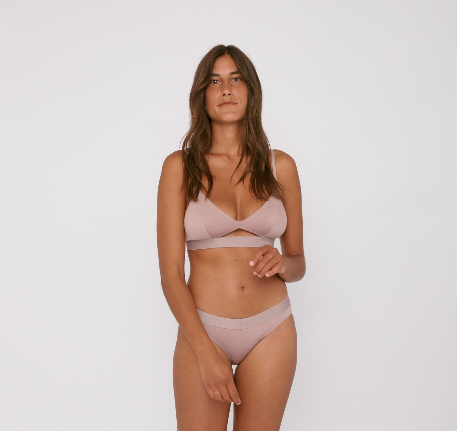 Organic Basics | Soft Touch Tanga 2-pack Dusty Rose Tencel ™-1