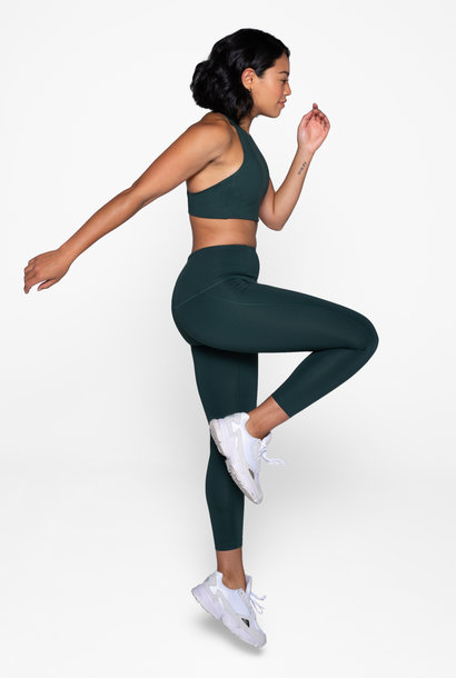 Compressive high-rise legging moss