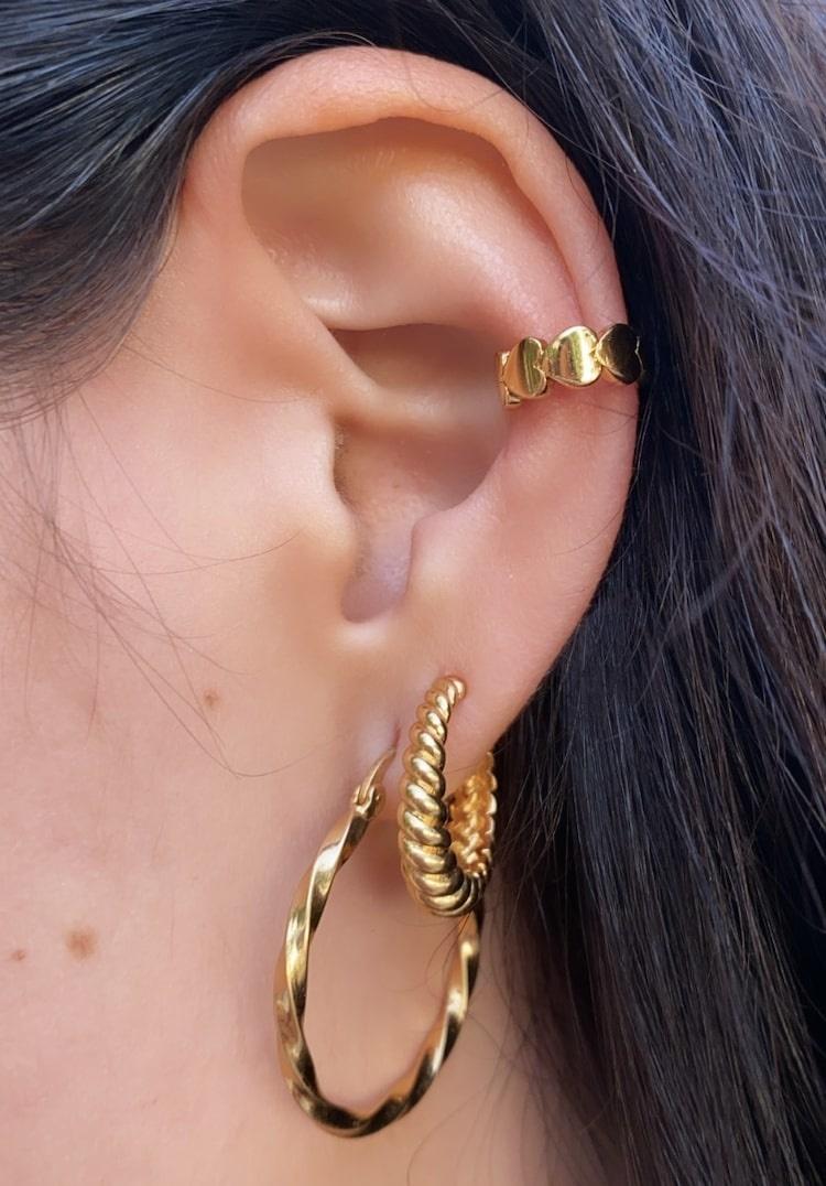 T.I.T.S. | Crossaint earring gold-2