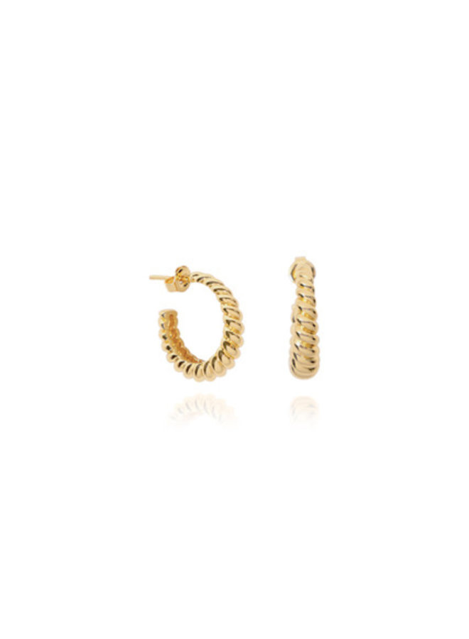 T.I.T.S. | Crossaint earring gold