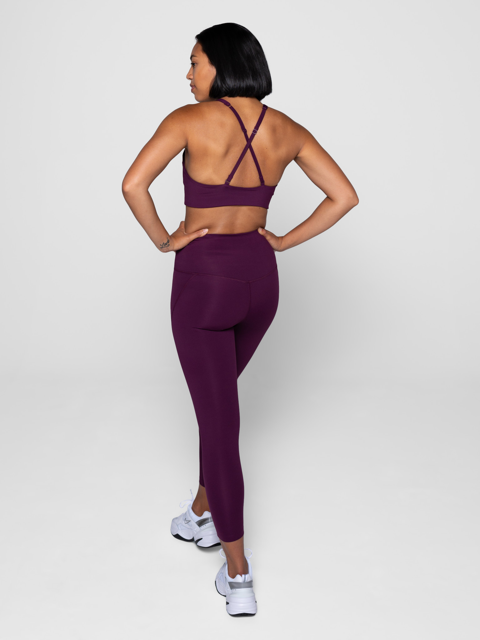 Girlfriend Collective | Compressive high-rise legging plum-2