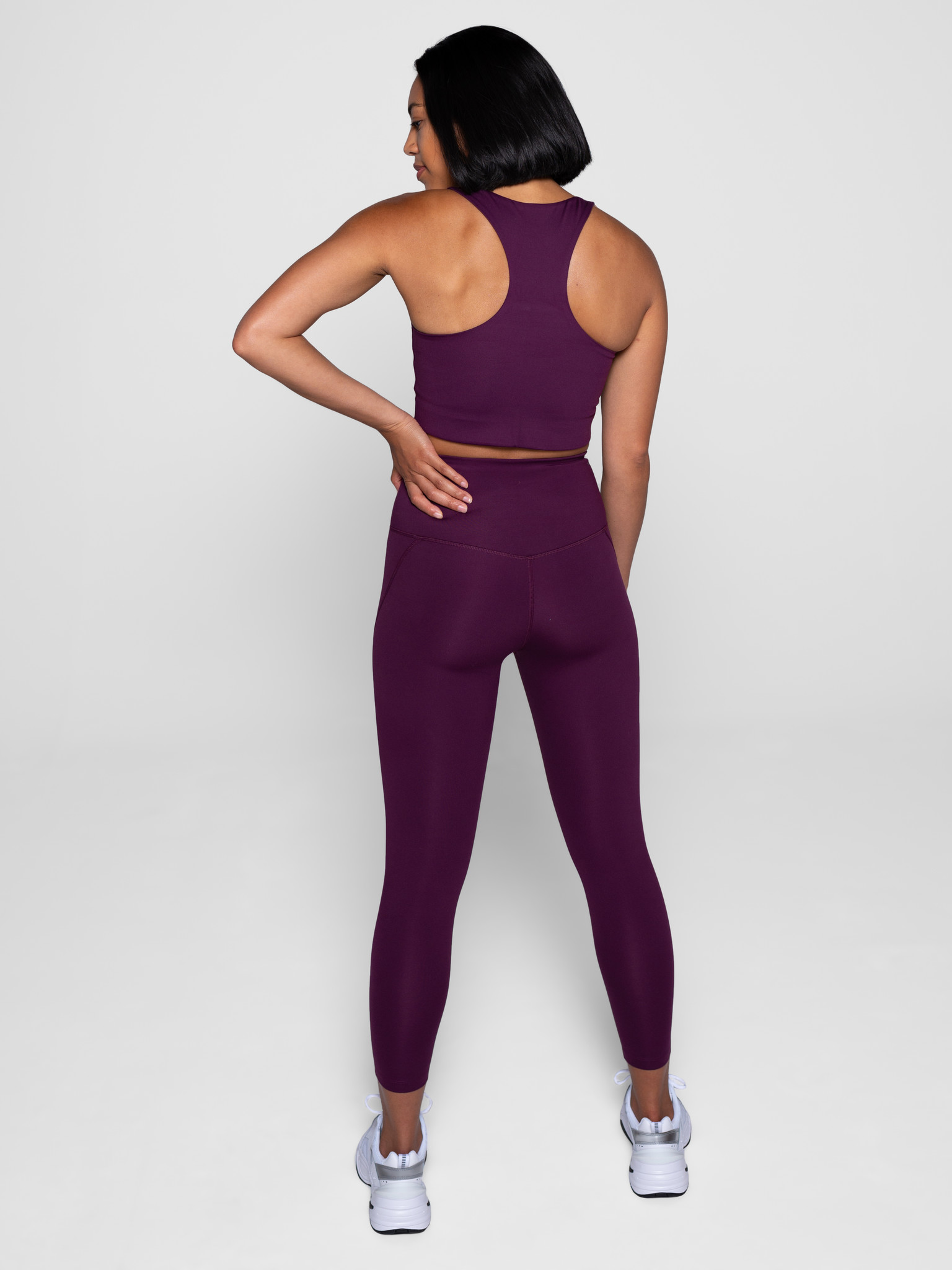 Girlfriend Collective | Compressive high-rise legging plum-3
