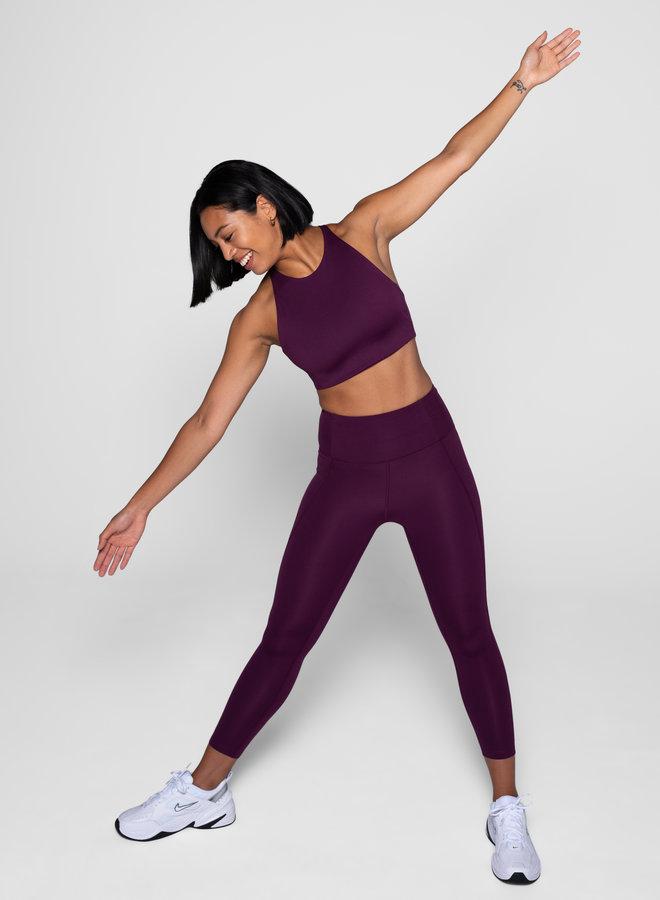 Girlfriend Collective | Compressive high-rise legging plum