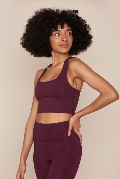 Paloma sports bra plum