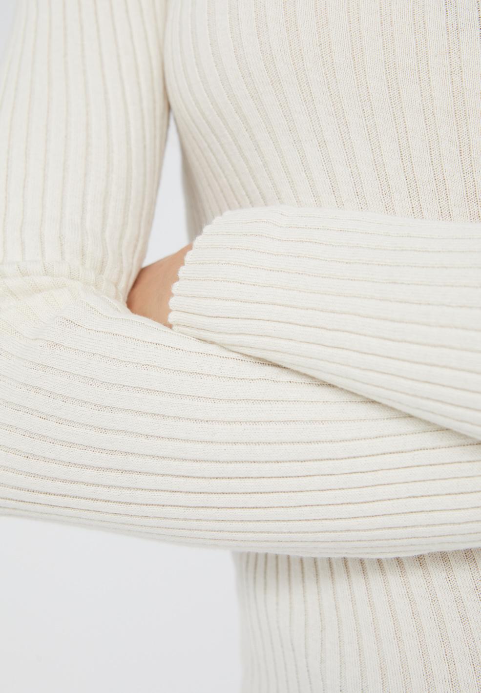 Armedangels | Alaani crewneck oatmilk organic cotton-2
