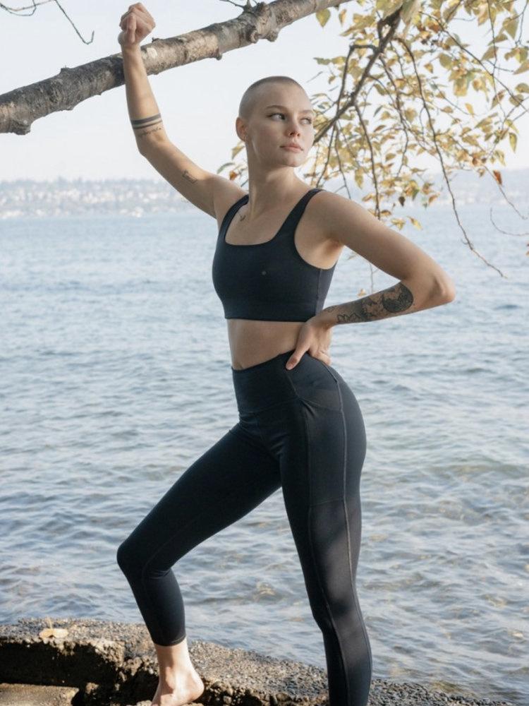 Girlfriend Collective | Compressive high-rise pocket legging zwart-1