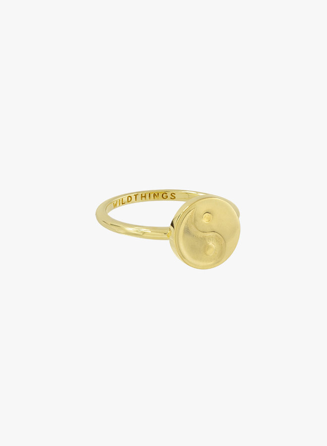 Wildthings | Yin Yang coin ring gold