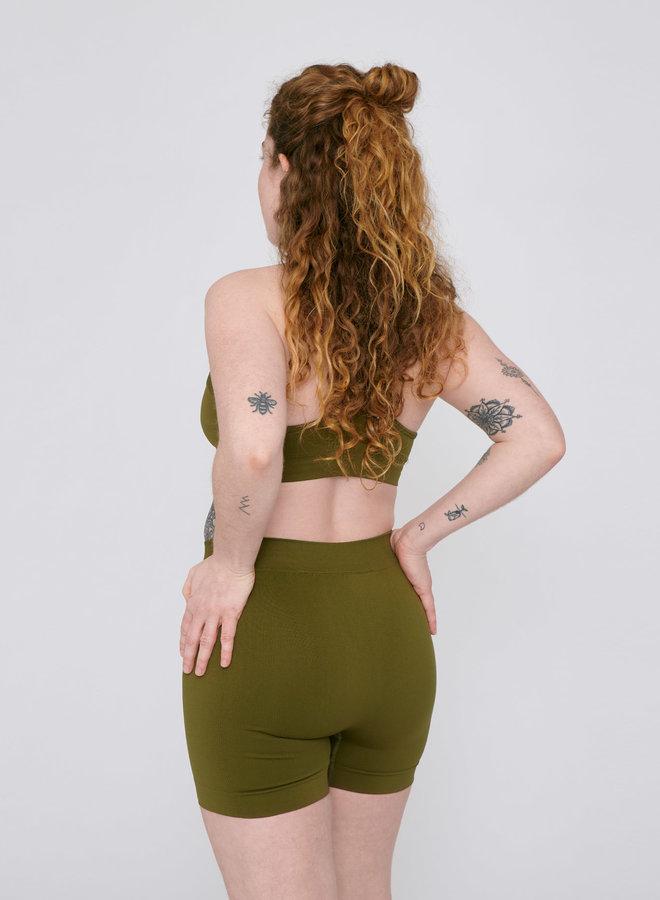 Organic Basics | Active Yoga Shorts Olive
