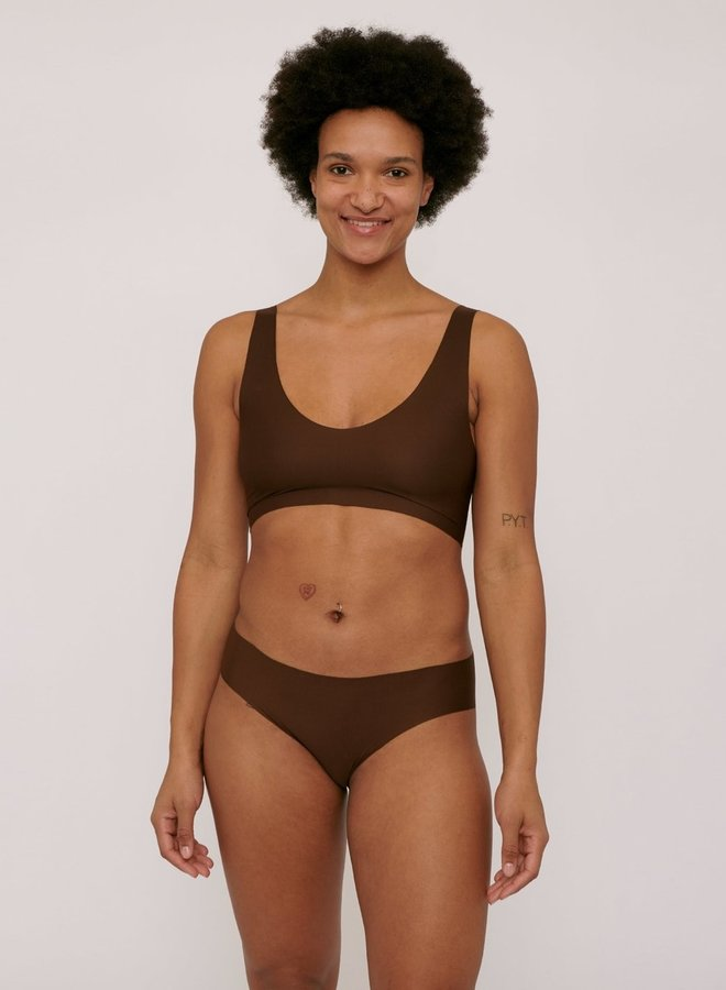 Organic Basics | Invisible Cheeky Brief 2-pack Walnut