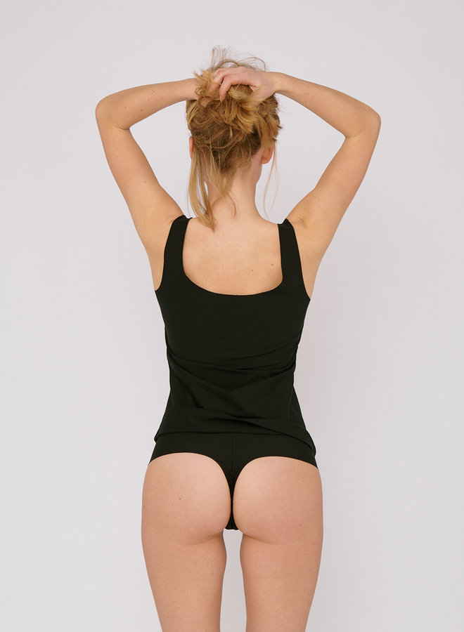 Organic Basics | Invisible Cheeky Thong 2-pack Black