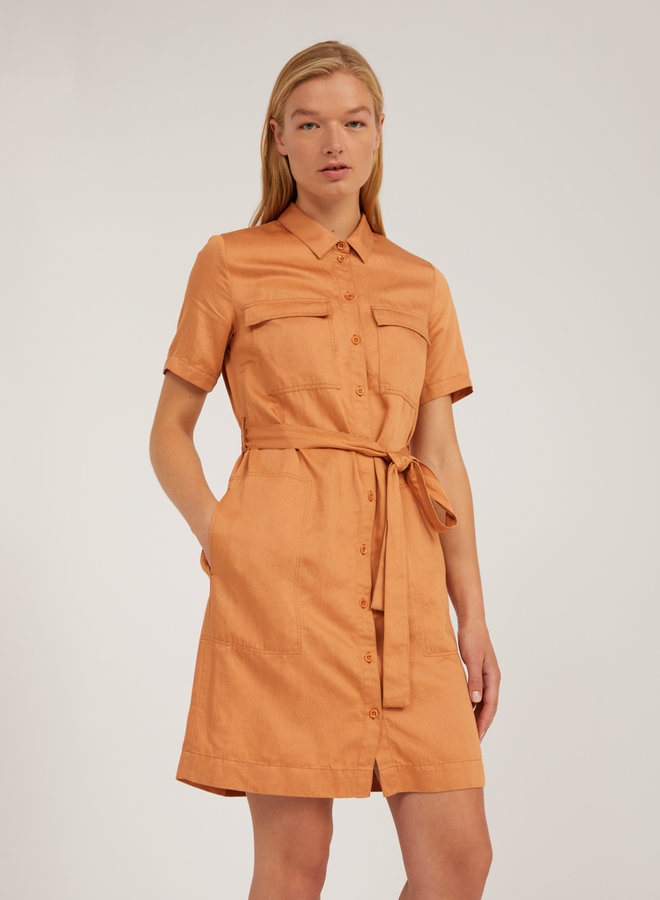 Armedangels | Mirvaa Dress Toasted Hazel Tencel™ / Linen