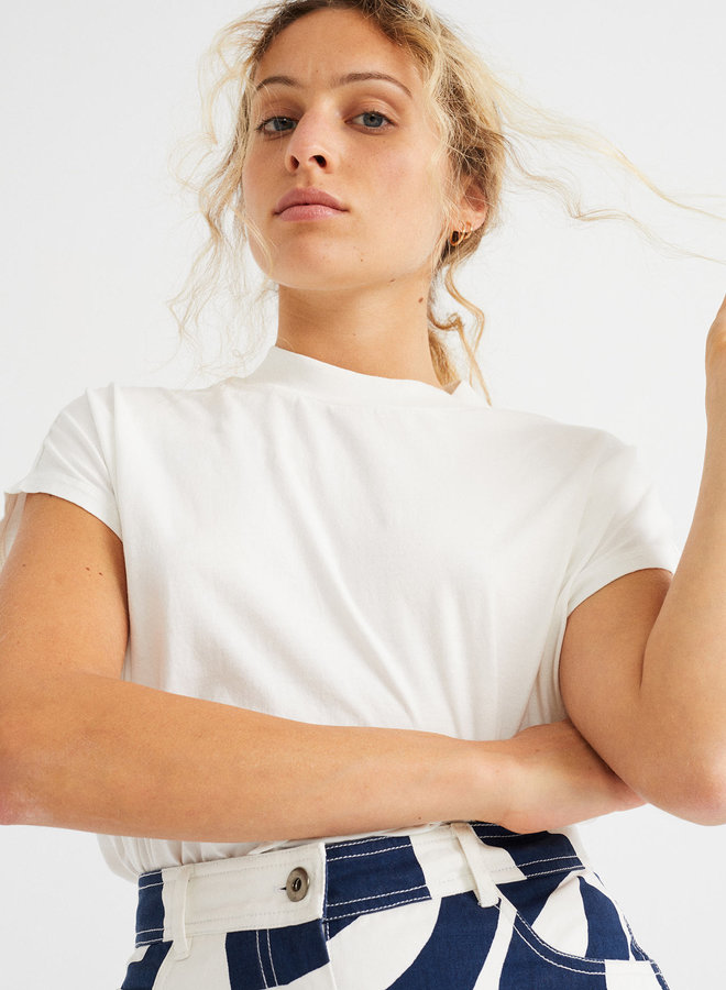 Thinking Mu   Volta T-shirt White Organic cotton