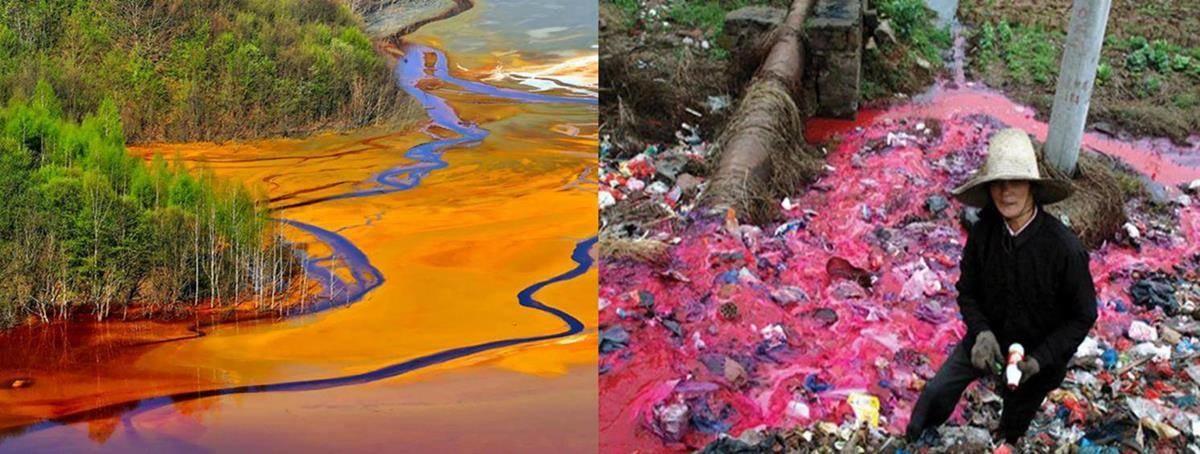 kleding-verfproces-vervuiling-rivier